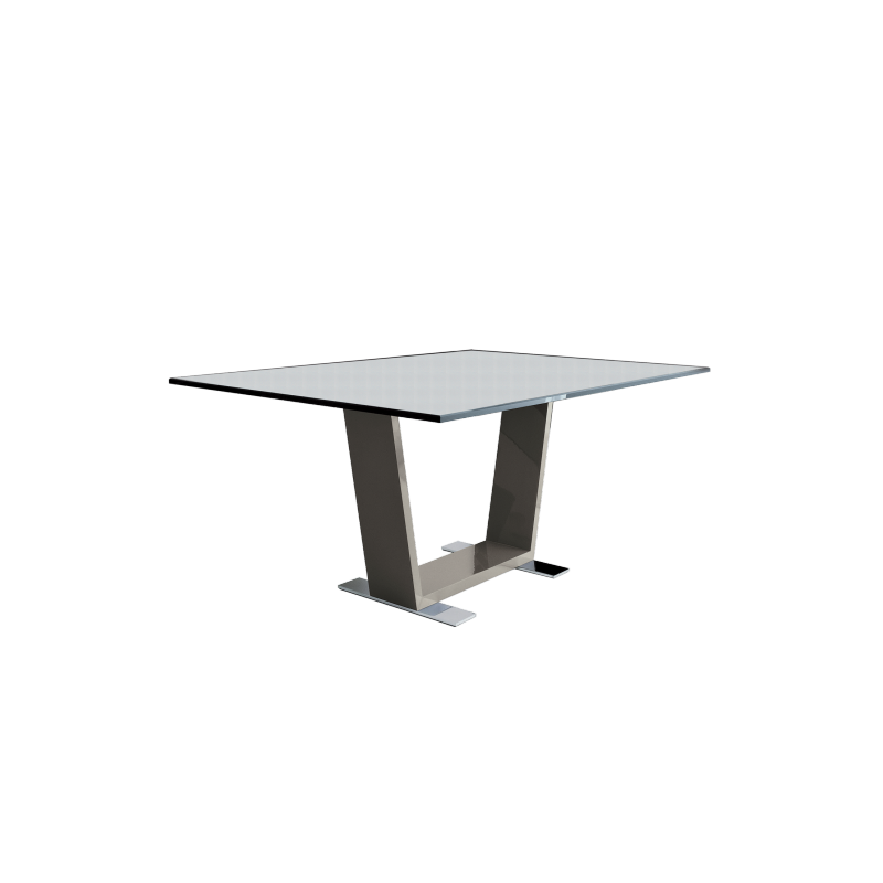 Table basse verre transparent for Meuble tv transparent